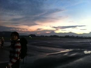 Sunrise in Bandung Airport