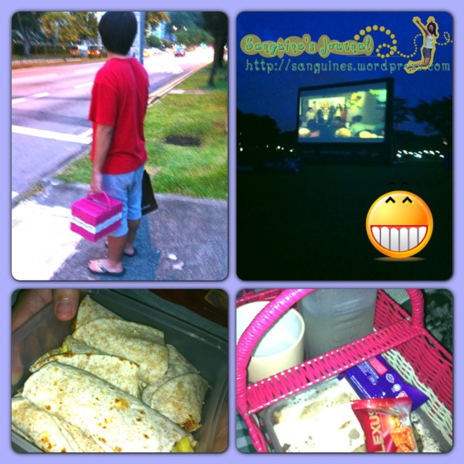 "Bandi prepared Buritos for Picnic movie night ""Madagascar 3"""