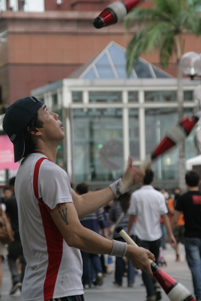 Street Performer at Orchard Road