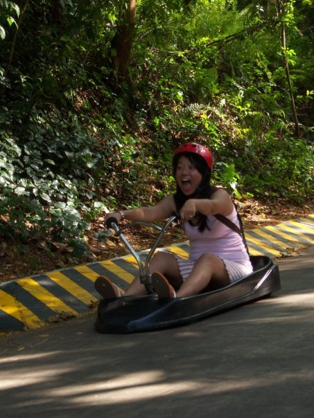 Me with my immature face playing Luge