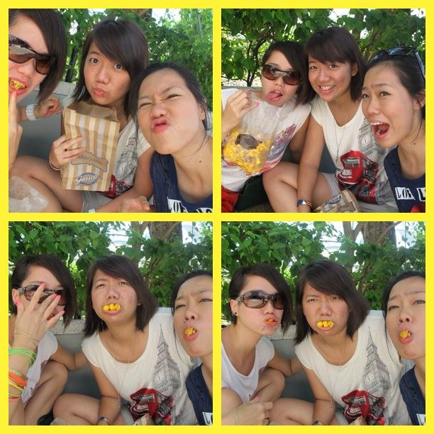 Us, pigging into the pop corn