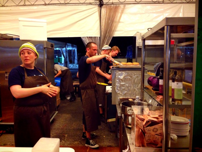 Busy kitchen in Danish Stall!