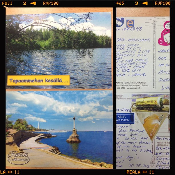 Postcards from Ukraine and Finland.