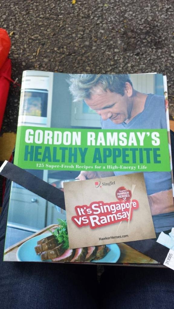 Brought Gordon's cookbook just in case...