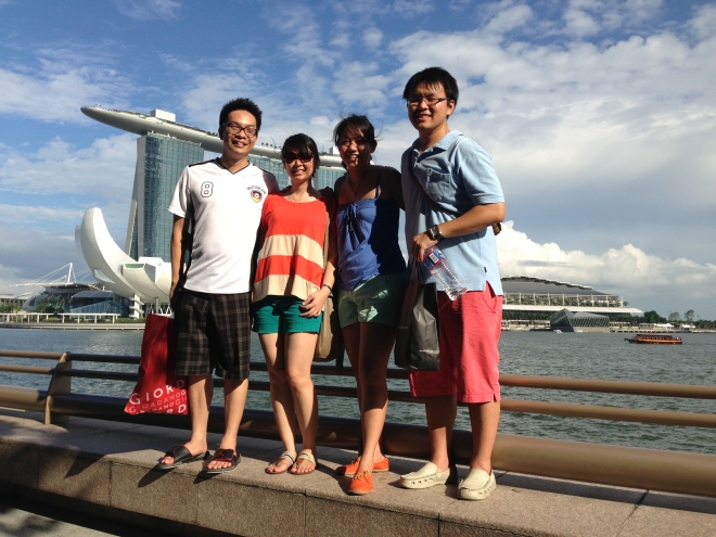 The four of us, somewhere in Marina Bay
