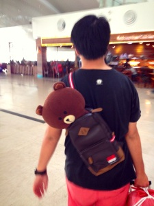 Bonus Photo of Bandi carrying Brownie in Medan