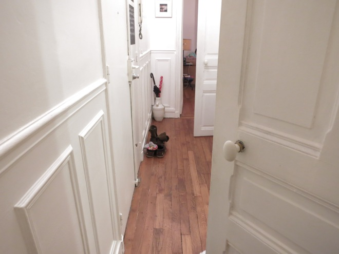 The tiny hallway
