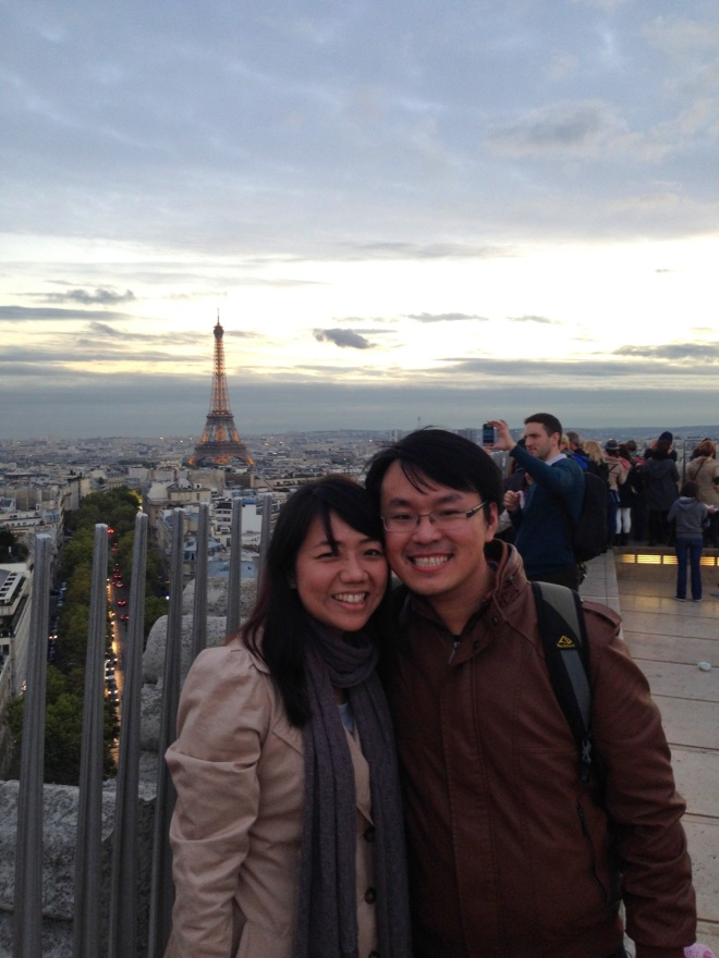 And we climbed all the way up (270-ish steps of stair!) and saw the city of Paris 360 degrees. =)