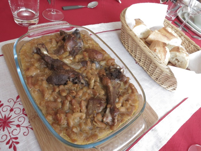 Baked beans and ducks, is said as Reims specialty.