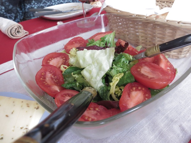 And the European Salad... with no dressing. Noooo!! The best thing about salad is the creamy thousand island!