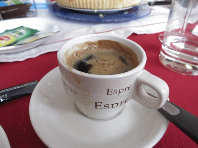 Of course, it's espresso o'clock! (oh this is a joke I made during the trip because Europeans drink espresso like in ever hour. LOL