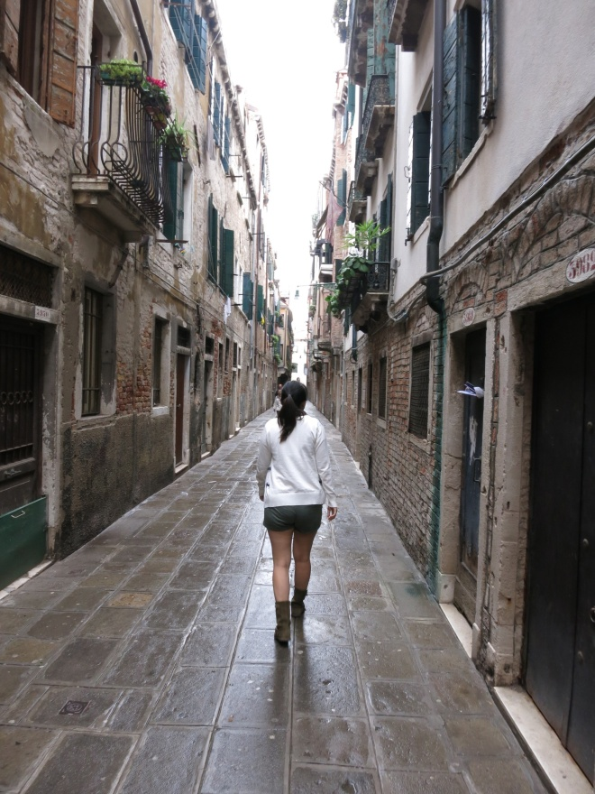 The small alley of venice. You'll definitely be lost in Venice at least once!