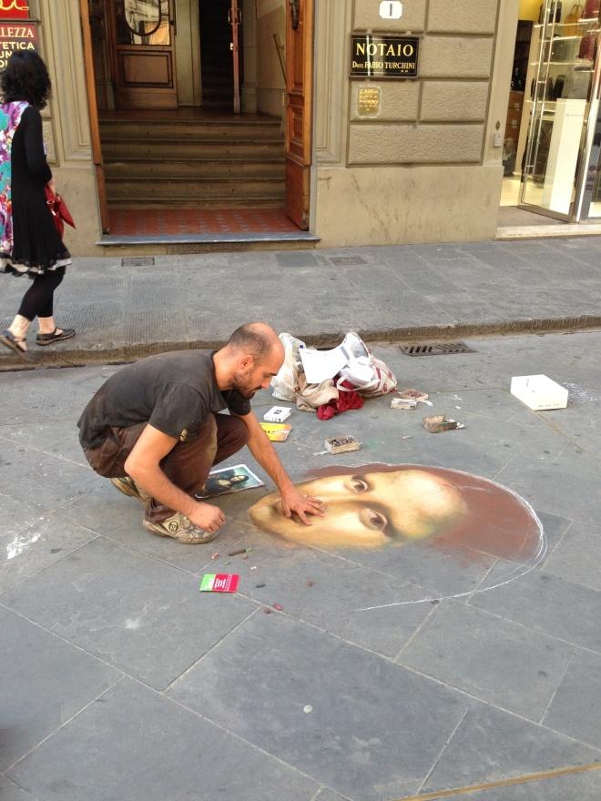 A cool street artist