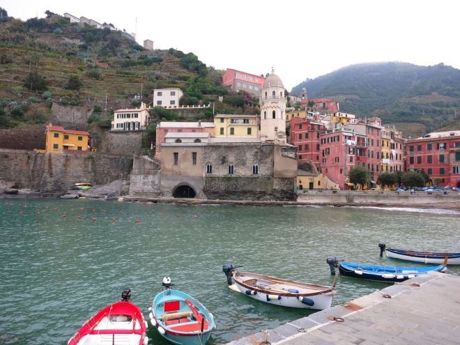 We started the hiking from the sea side of Vernazza