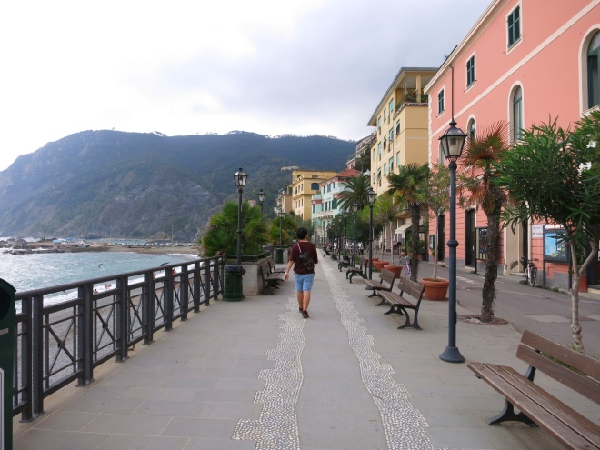 Monterosso, the pretty little town.