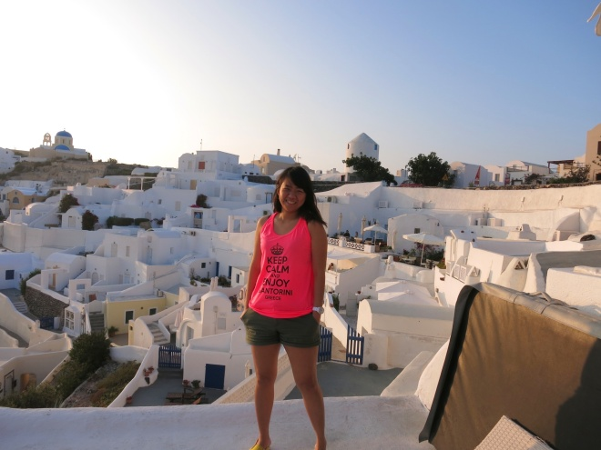 Keep calm in Santorini? DUH!! OF COURSE!!!