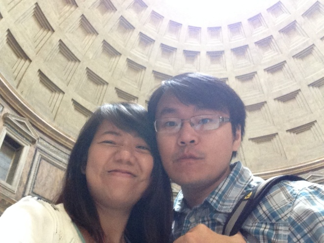 Inside Pantheon. MUST MUST MUST Visit while in Rome. and it is FREE ADMISSION!
