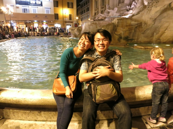 Trevi fountain, sooo packed with people. But it was truly one sweet memory I had. =)