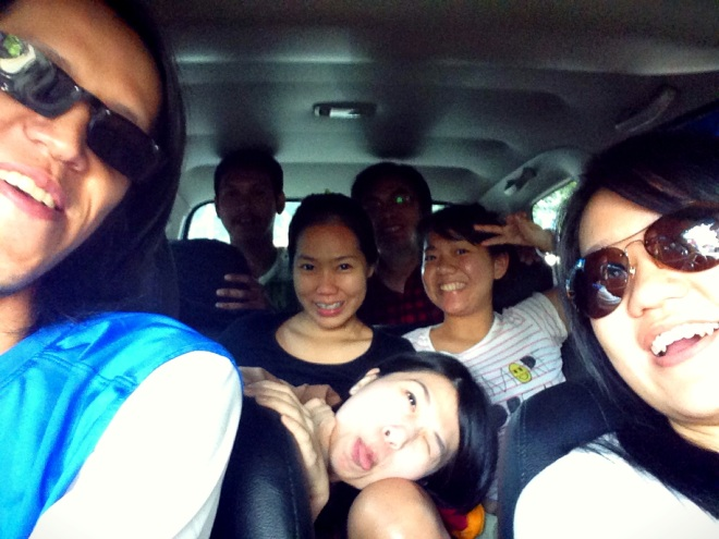 Road trip to Bandung. It was supposed to be bridesmaids only but well, I have awesome friends who are so helpful. =)