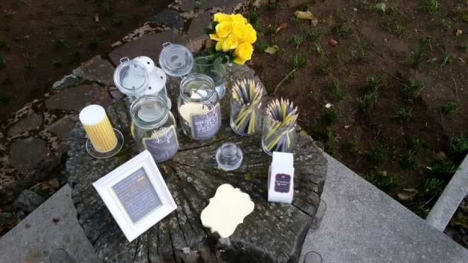 The wish jars... instead of guest book.