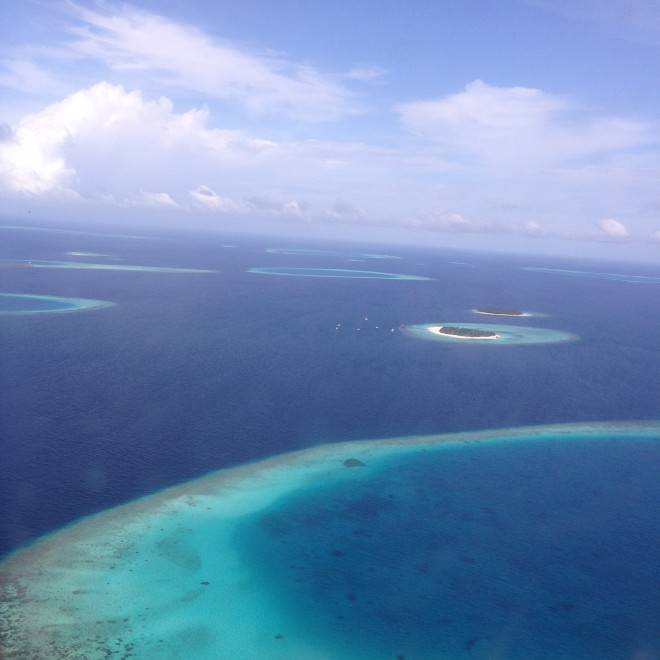 The aerial view from the seaplane.
