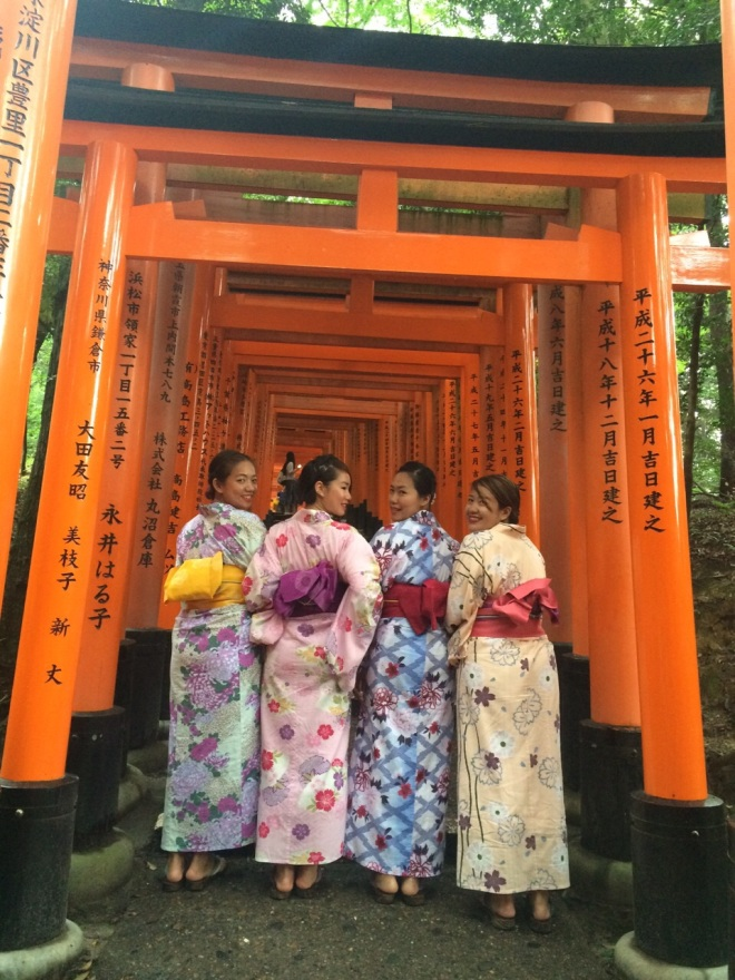The next day we went to Fushimi Inari wearing Yukata!